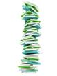 Grüne Bücher gestapelt 3D