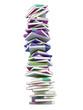 Bunter Bücherstpel 3D