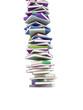 Bunter Bücherturm 3D