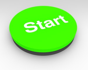 Green electronic Start button