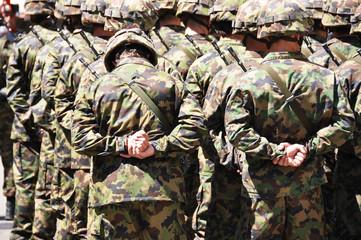 Swiss military men