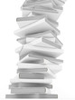 Bücherturm weiß auf weiß 3D