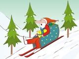 Santa Claus and sled