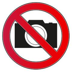 Verbotsschild Kamera