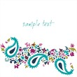 colorful paisley floral pattern , template , royal India