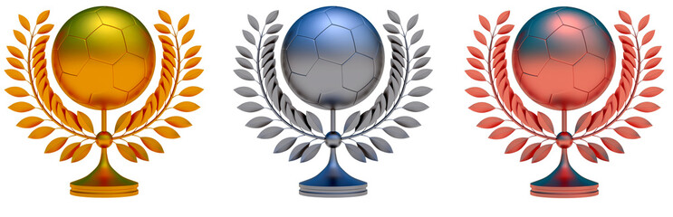Collection of soccer ball prizes