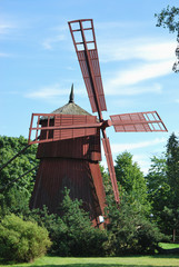 Small Wooden Windmill
