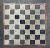Outdoor Marble Chessboard poster