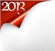 Vector Christmas New Year Card 2013