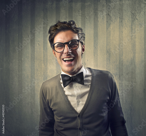 Amused Fashionable Man
