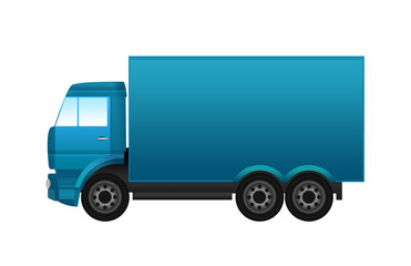 Illustration of a colorful truck