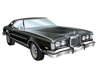 Mean Looking Vintage American Muscle Car