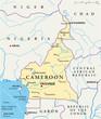 Cameroon map (Kamerun Landkarte)