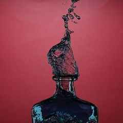 Splashing bottle
