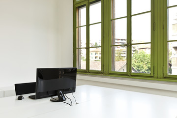 interior , office with modern furniture, computer