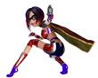 super girl got a gun