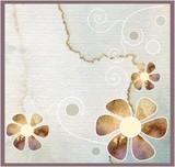 Fototapety ładne akwarelowe tło z kwiatami