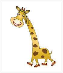 cheerful giraffe