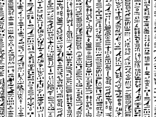 Egypt hieroglyphs, seamless pattern for your design