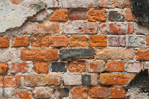 Texture of old wall with bricks