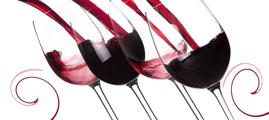 Red wine splashing background