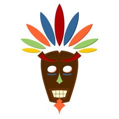 Colorful indigene mask isolated over white