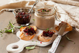 Chicken liver pate with onion jam