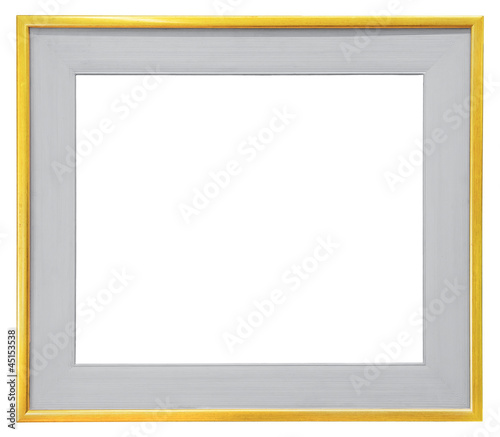 Gray frame isolated on white background