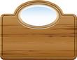 Holzschild für ovales Logo