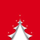 Fototapety christmas card paper tree