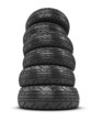 3d Stack of car tyres