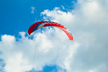 Big kite against the blue sky.