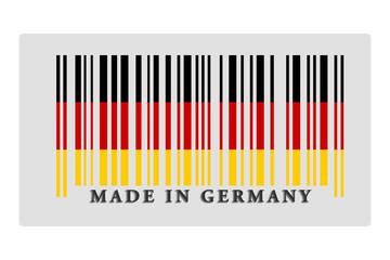 Barcode auf Etikette in deutscher Landesfarben