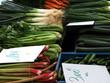 marktstand mit gemüse