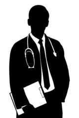 Silhouette of a medical doctor
