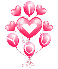 """I love you"" balloons"