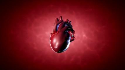 Beating human heart, animation loop