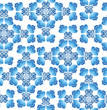 floral seamless pattern. flowers in russian style Gzhel
