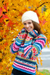 teen girl in autumn