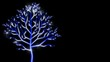 Growing up tree decorative animated