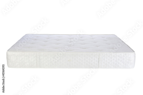 Softness of spring mattress isolated