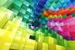 Abstract colored cubes