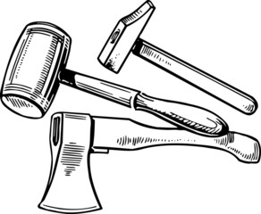 Axe and hammers