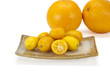Cumquat or kumquat  on white background