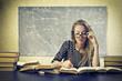 Blonde Girl Studying