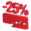 minus 25 percent