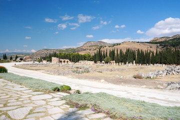 Ancient Hierapolis-Pamukkale, Turkey.