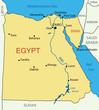 Arab Republic of Egypt - vector map