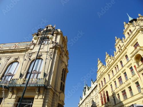 Gemeindehaus und historische Architektur in Prag