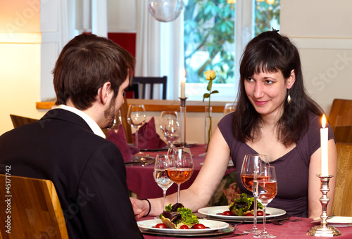 Flirting Over A Romantic Dinner